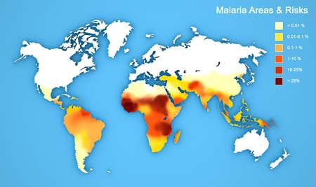 malaria: Карта распространения заболевания малярией