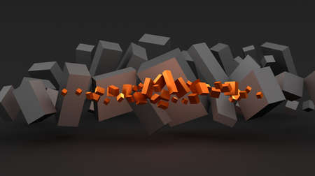 Abstract background with cubes photo