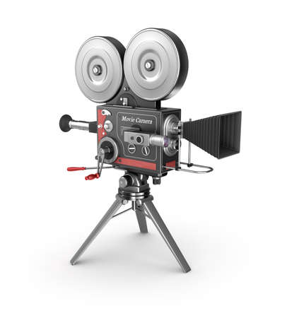 hollywood: Vintage movie camera. Old style.