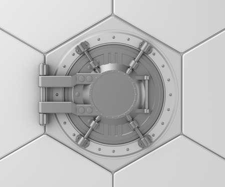 caja fuerte: Banco b�veda concepto de la caja fuerte