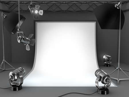 Photo studio equipment background  Stock Photo - 17815769