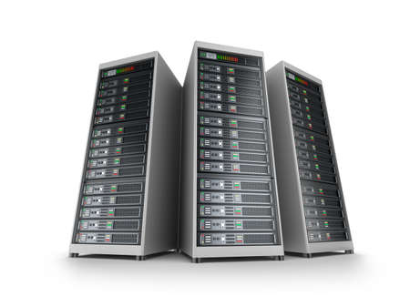 hospedagem: Grade do servidor de TI Banco de Imagens