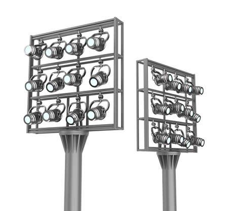 Set of spotlights on metal frames Stock Photo - 17815767