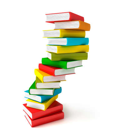 encyclopedia: Books in pile