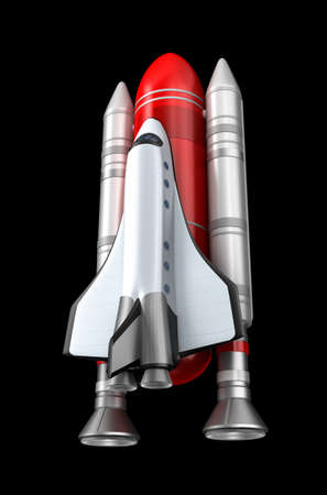 booster: Shuttle model  Stock Photo