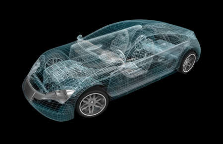 Car wireframe My own design Standard-Bild - 17964817