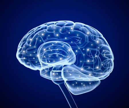 impulse: Brain impulses  Thinking prosess  Stock Photo