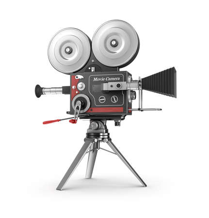 tripods: Old style movie camera