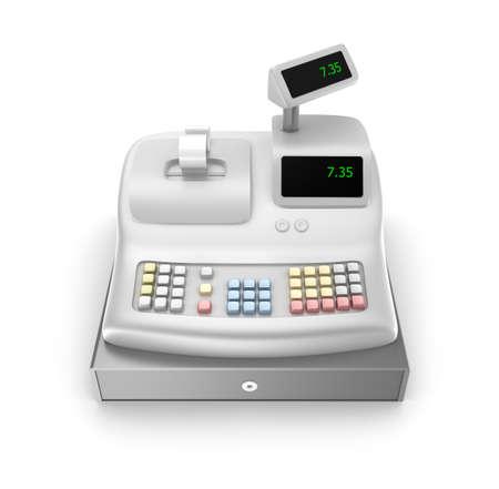 maquina registradora: Caja registradora Vista frontal