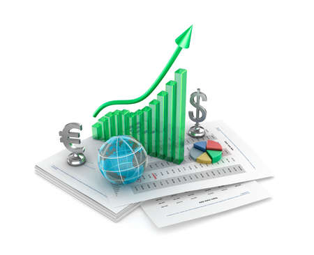 Business analythics  Charts and signs Stock Photo - 17964794