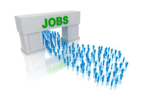everyone: Jobs for everyone  Stock Photo