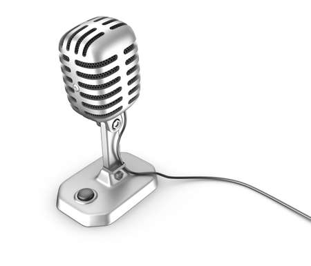 Old style microphone photo