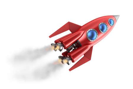 Retro-Stil Rakete Standard-Bild - 17964761