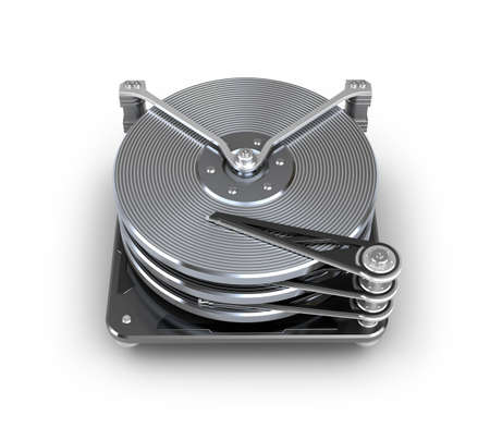 hardware icon: Hard disc drive  Stock Photo