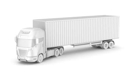 white truck: Truck with container  Blank  My own design