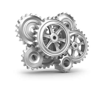 Clockwork mechanism  Cogs and gears Stock Photo - 17964791