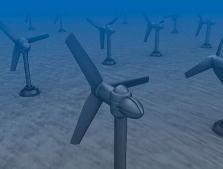tidal wave: Tidal wave turbines on the bottom of the sea