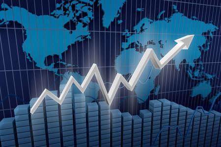 Business Income Diagrammhintergrund Standard-Bild - 17964816
