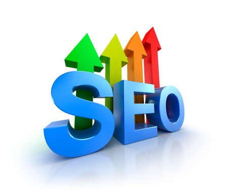 upcoming: SEO word with upcoming arrows