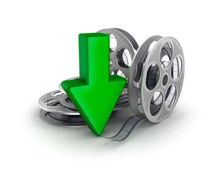 Film reel and arrow  Download icon Stock Photo - 17964767