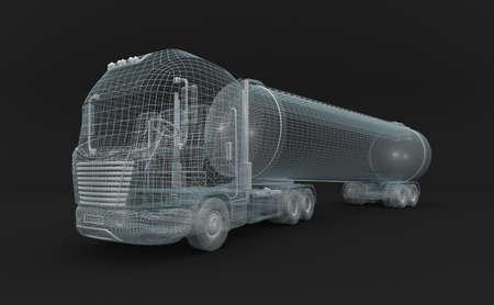 Semitransparent fuel tanket truck  Stock Photo - 17964819