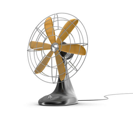 metaal: Oude stijl elektrische ventilator Stockfoto