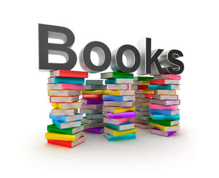 Books in piles Stock Photo - 18028217