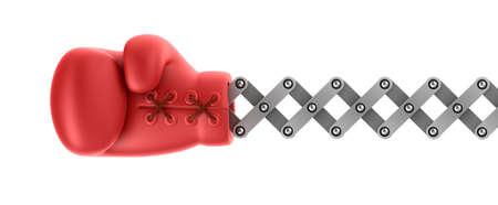 guantes de boxeo: Guante de boxeo sorpresa