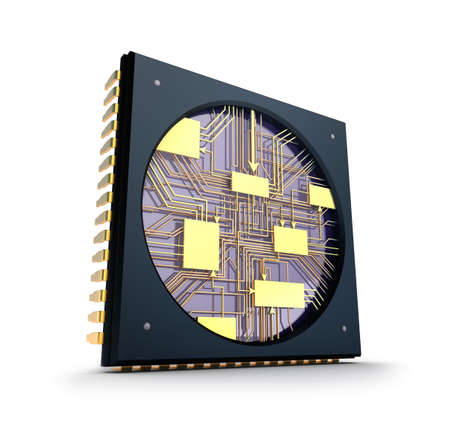 semiconductors: CPU  Inside the chip concept  Stock Photo