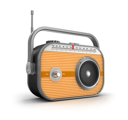 radio frequency: Retro radio concept