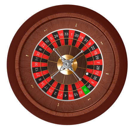 roulette wheels: Casino roulette  Top view  Stock Photo