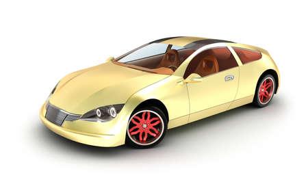 Golden car concept  My own design Stock Photo - 18345889
