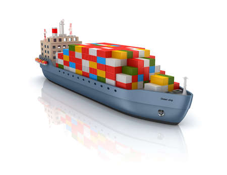 MARITIME: Cargo container ship Stock Photo