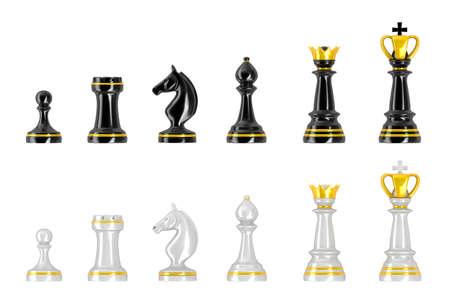 Vorlage von Schachfiguren Standard-Bild - 18345882