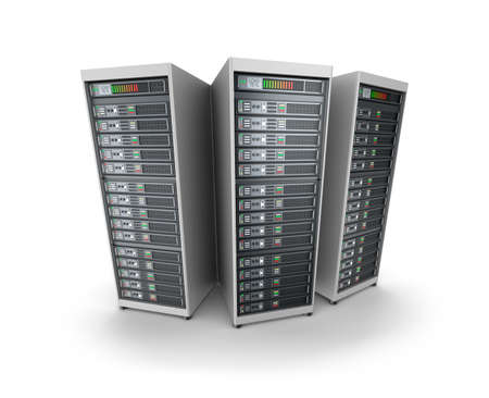 Set of data servers photo