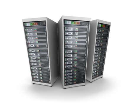 Set of data servers photo