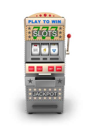 slot machine: A slot machine, gamble machine  Stock Photo