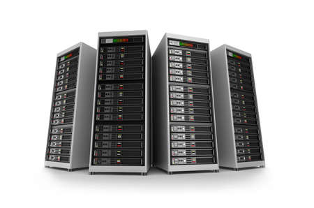 server rack: Servers, isolated