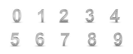Numbers set from 0 to 9 Stock Photo - 18848991