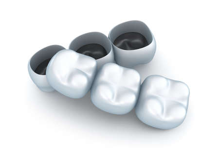 Artificial tooth crowns  photo