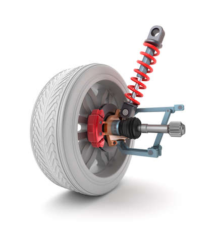 claen: Wheel, shock absorber and brake pads