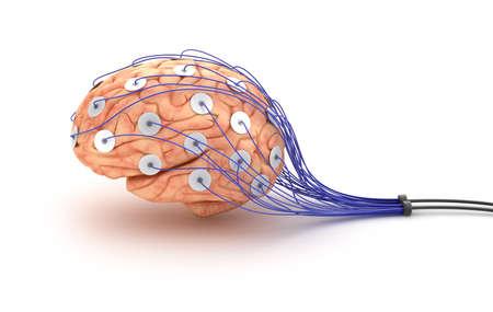 Gehirn Analyse Lügendetektor-Test Standard-Bild - 20586754