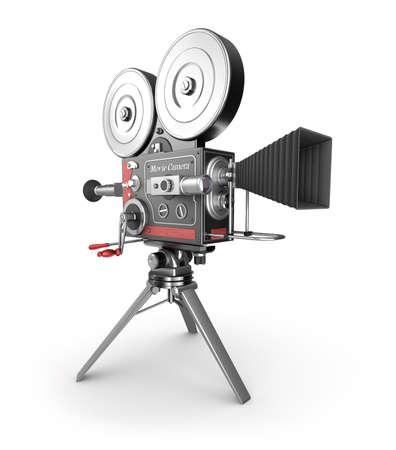camara de cine: Cámara de película de la vendimia