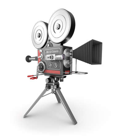 35mm film motion picture camera: Vintage movie camera Stock Photo