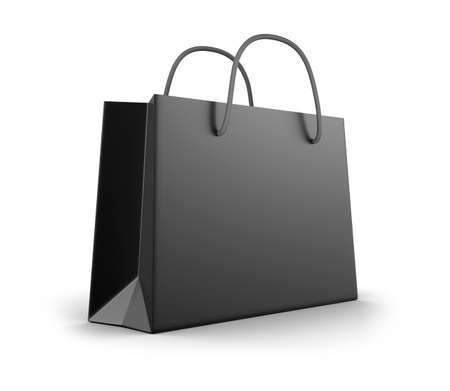 Black shopping bag Stock Photo - 20586649