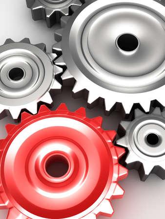 Steel gear wheels concept Stock Photo - 20586937