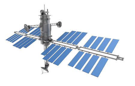 Space satellite isolated Stock Photo - 20586631