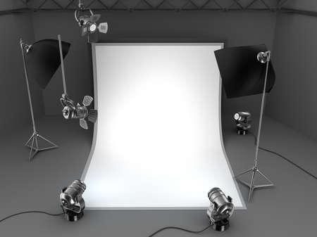 photography session: Photo studio equipment background