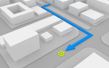 land use: Percorso di navigazione sulla mappa 3d