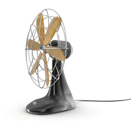 сбор винограда: Старый стиль электрический вентилятор Фото со стока